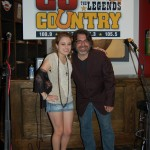 CJ's RJ hangs with Stephanie Grace after her CJ Unplugged peformance at City Slickers.