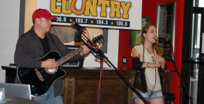 Stephanie Grace performs live for CJ Country Unplugged at City Slickers in Batavia.