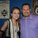Stephanie hangs with CJ's Scott Wessel after her CJ Country Unplugged performance at City Slickers.