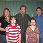 CJ's Kellie Millhollen & family meet Richie backstage.