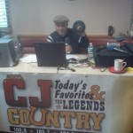 "Trevor Carey plays the ""platters that matter"" at Miss Batavia Diner for our first CJ ""Breakfast Broadcast"" of the summer!"