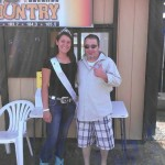 CJ Morning Man Trevor with Wyoming County 2012 Fair Queen, Miss Kelly Degroff