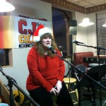 Kelli belts out Merry Christmas Darling at our first ever CJ Jingle Bell Breakfast Broadcast at Silver Lake Family Restaurant in Warsaw!