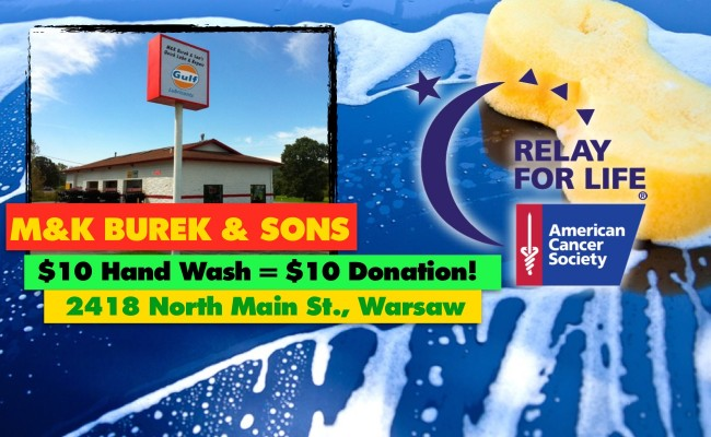 WASH YOUR CAR FOR RELAY WITH M&K BUREK