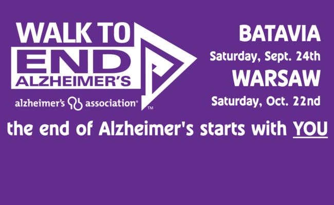JOIN THE ALZHEIMER WALKS IN BATAVIA & WARSAW