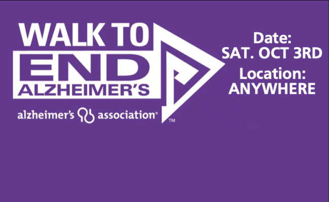 The Walk to End Alzheimer's is EVERYWHERE this year.